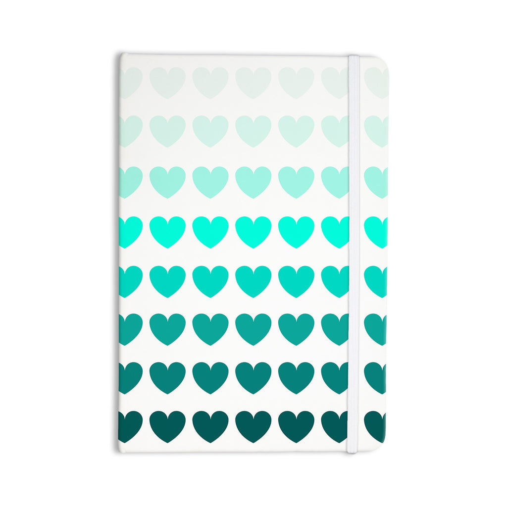 "NL Designs ""Teal Hearts"" Blue love Everything Notebook - KESS InHouse  - 1"
