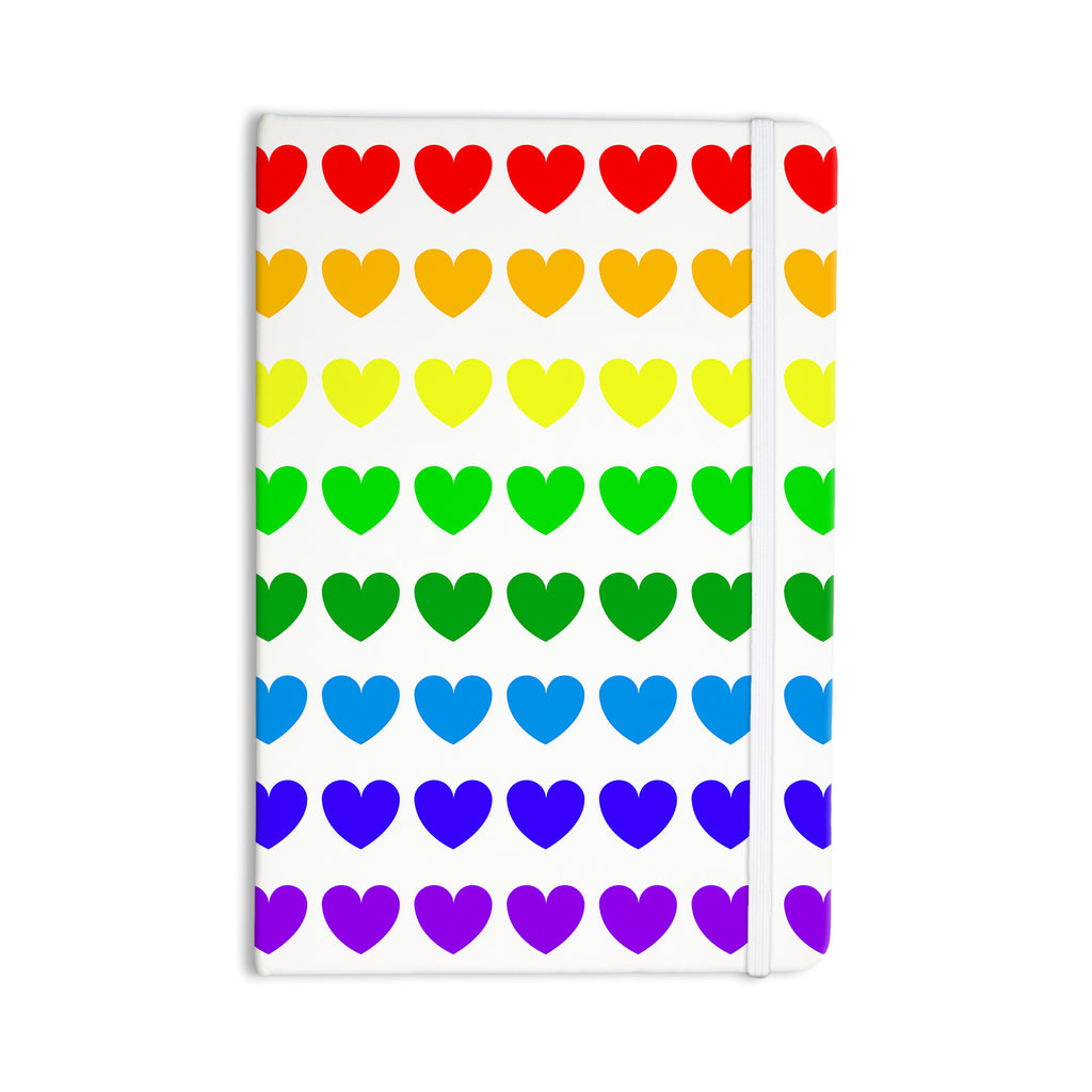 "NL Designs ""Rainbow Hearts"" Multicolor Love Everything Notebook - KESS InHouse  - 1"