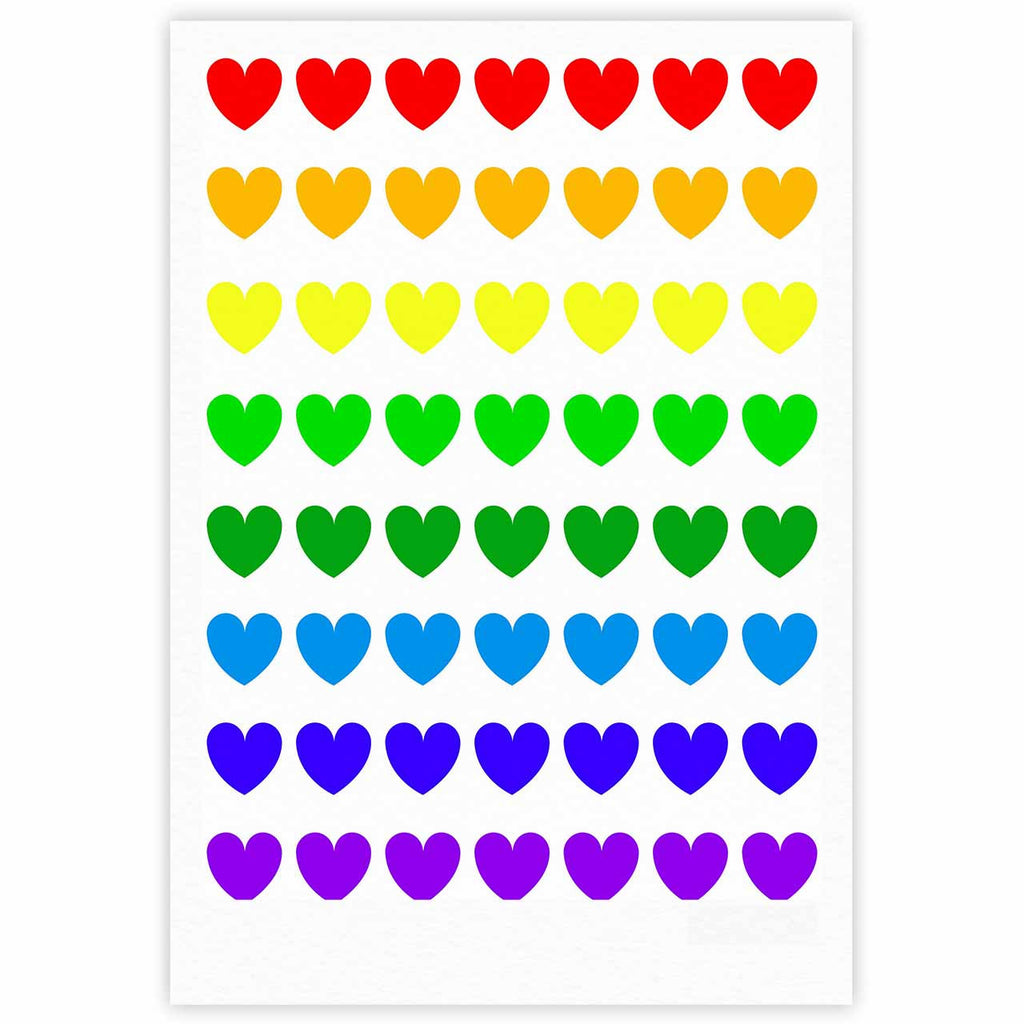 "NL Designs ""Rainbow Hearts"" Multicolor Love Fine Art Gallery Print - KESS InHouse"