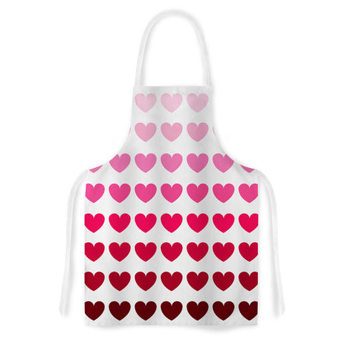 "NL designs ""Pink Hearts"" Apron - Outlet Item"