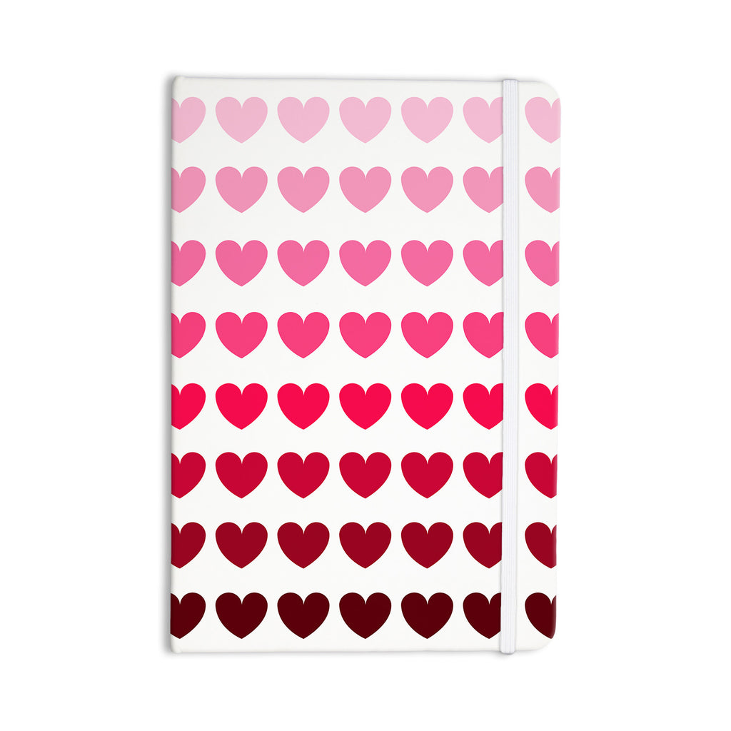 "NL Designs ""Pink Hearts"" Maroon Love Everything Notebook - KESS InHouse  - 1"