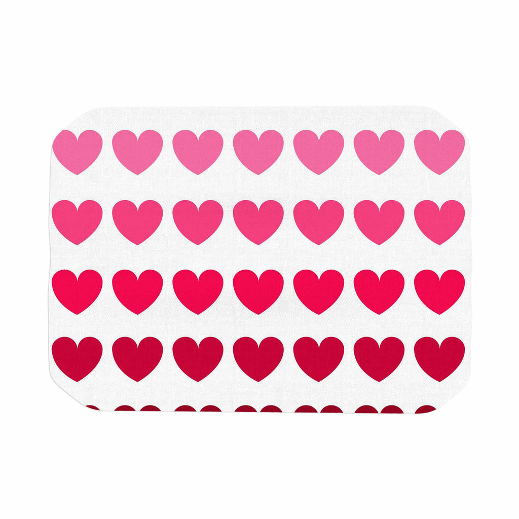 "NL Designs ""Pink Hearts"" Maroon Love Place Mat - KESS InHouse"