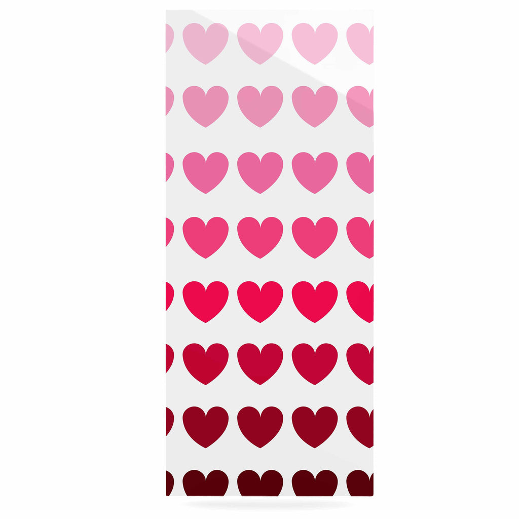 "NL Designs ""Pink Hearts"" Maroon Love Luxe Rectangle Panel - KESS InHouse  - 1"