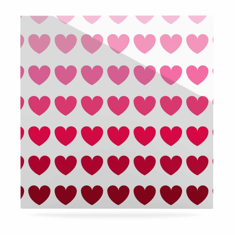 "NL Designs ""Pink Hearts"" Maroon Love Luxe Square Panel - KESS InHouse  - 1"
