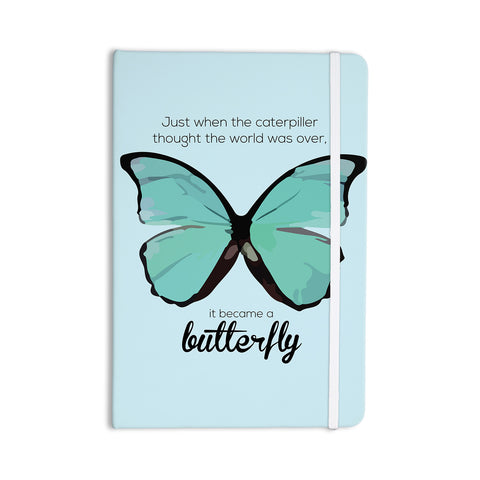 "NL Designs ""Blue Butterfly"" Blue Quote Everything Notebook - KESS InHouse  - 1"