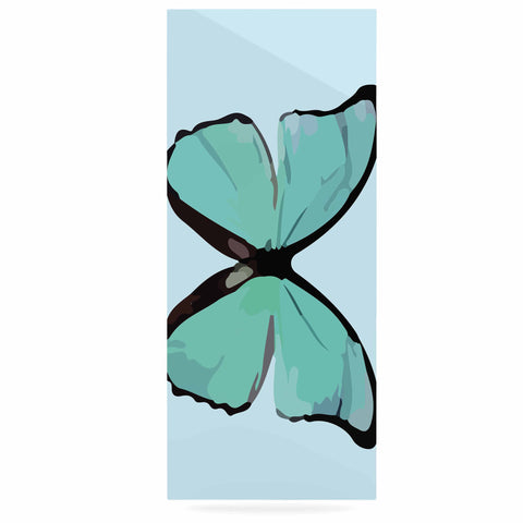 "NL Designs ""Blue Butterfly"" Blue Quote Luxe Rectangle Panel - KESS InHouse  - 1"