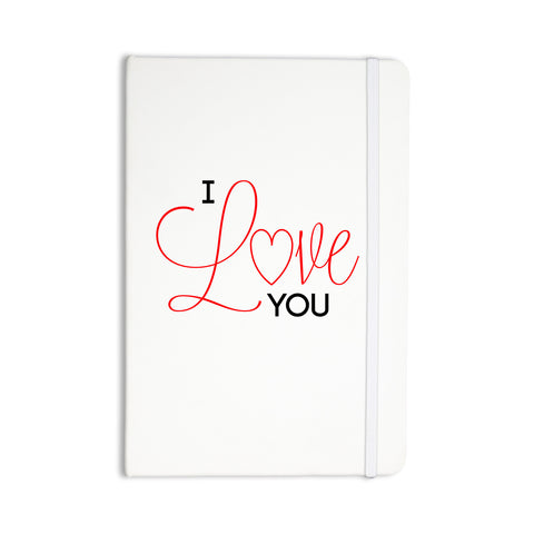 "NL Designs ""I Love You"" White Red Everything Notebook - KESS InHouse  - 1"