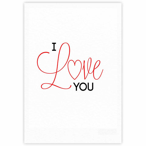 "NL Designs ""I Love You"" White Red Fine Art Gallery Print - KESS InHouse"