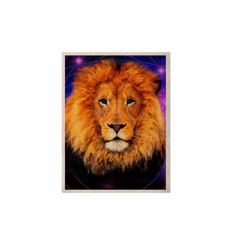 "NL Designs ""Space Lion"" Purple Orange KESS Naturals Canvas (Frame not Included) - KESS InHouse  - 1"