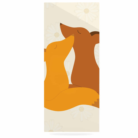 "NL Designs ""Foxy Love"" Orange Brown Luxe Rectangle Panel - KESS InHouse  - 1"