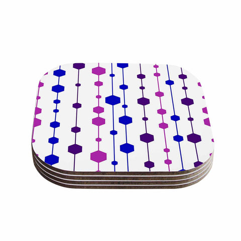 "NL Designs ""Cool Dots"" Line Pattern Coasters (Set of 4)"