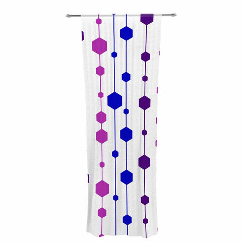 "NL Designs ""Cool Dots"" Line Pattern Decorative Sheer Curtain - KESS InHouse  - 1"