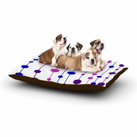 "NL Designs ""Cool Dots"" Line Pattern Dog Bed - KESS InHouse  - 1"