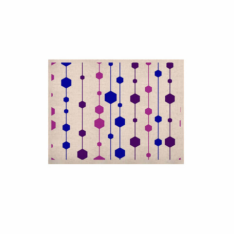 "NL Designs ""Cool Dots"" Line Pattern KESS Naturals Canvas (Frame not Included) - KESS InHouse  - 1"