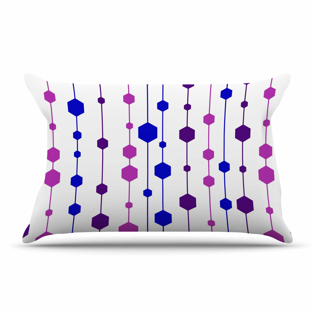 "NL Designs ""Cool Dots"" Line Pattern Pillow Sham - KESS InHouse"