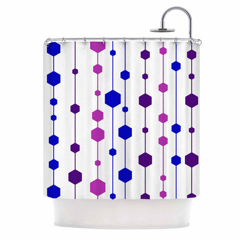 "NL Designs ""Cool Dots"" Line Pattern Shower Curtain - KESS InHouse"