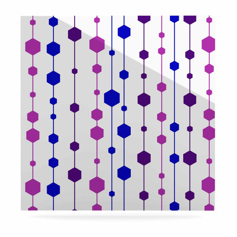 "NL Designs ""Cool Dots"" Line Pattern Luxe Square Panel - KESS InHouse  - 1"