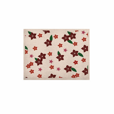 "NL Designs ""Holiday Floral"" White Pattern KESS Naturals Canvas (Frame not Included) - KESS InHouse  - 1"
