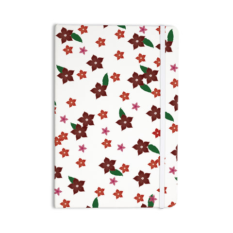 "NL Designs ""Holiday Floral"" White Pattern Everything Notebook - KESS InHouse  - 1"