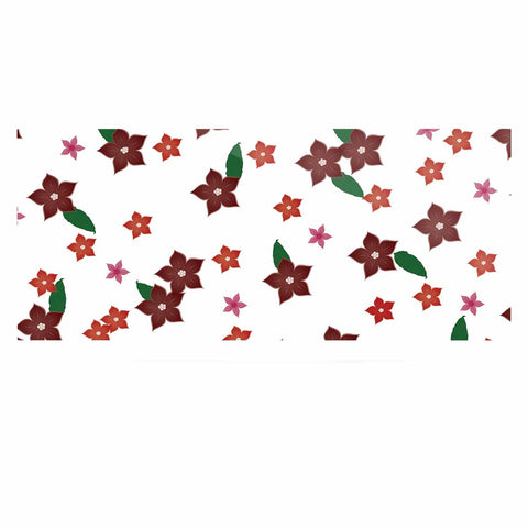 "NL Designs ""Holiday Floral"" White Pattern Luxe Rectangle Panel - KESS InHouse  - 1"