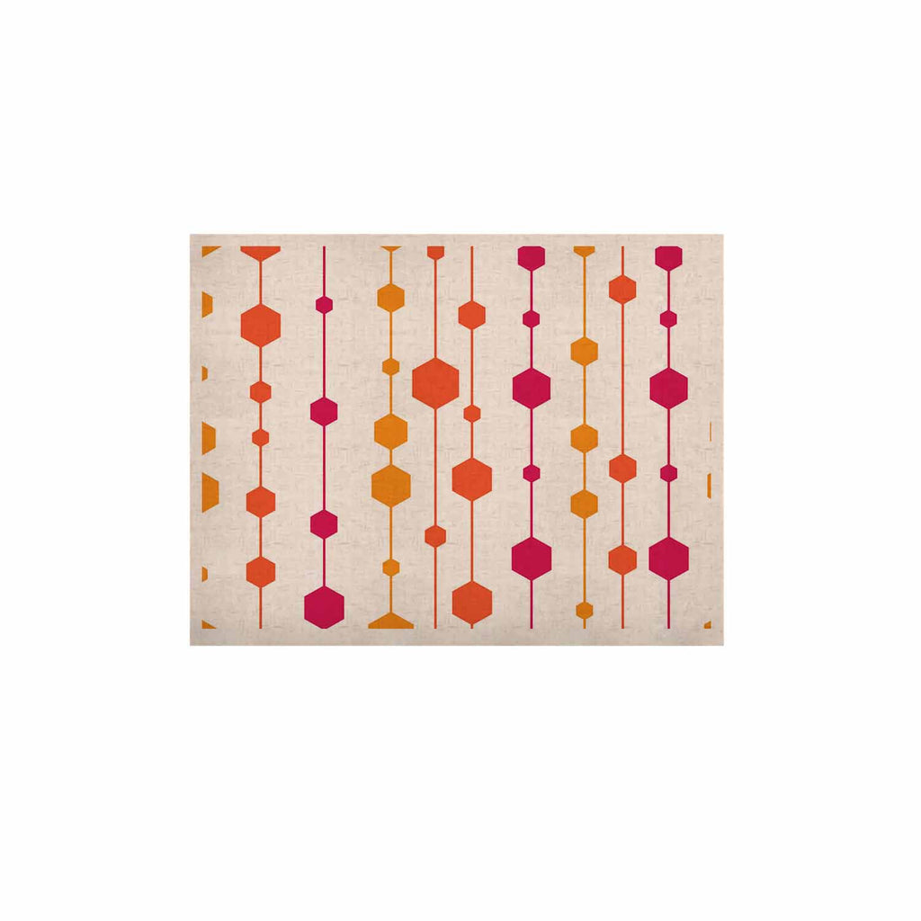 "NL Designs ""Warm Dots"" White Pattern KESS Naturals Canvas (Frame not Included) - KESS InHouse  - 1"