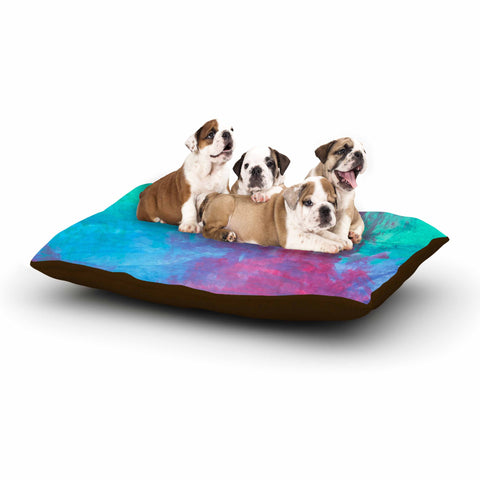 "NL Designs ""Bold Choice"" Teal Painting Dog Bed - KESS InHouse  - 1"