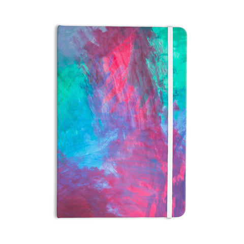 "NL Designs ""Bold Choice"" Teal Painting Everything Notebook - KESS InHouse  - 1"