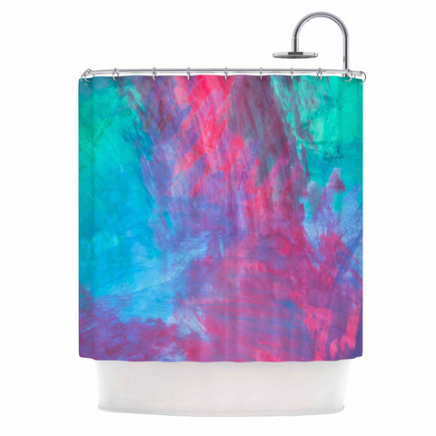 "NL Designs ""Bold Choice"" Teal Painting Shower Curtain - KESS InHouse"