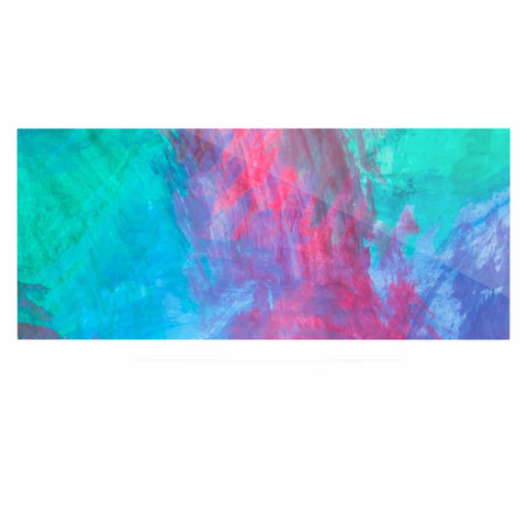 "NL Designs ""Bold Choice"" Teal Painting Luxe Rectangle Panel - KESS InHouse  - 1"