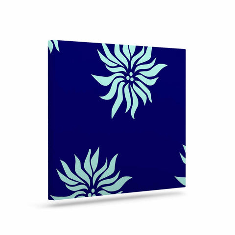 "NL Designs ""Snow Flowers"" Blue Aqua Canvas Art - KESS InHouse  - 1"