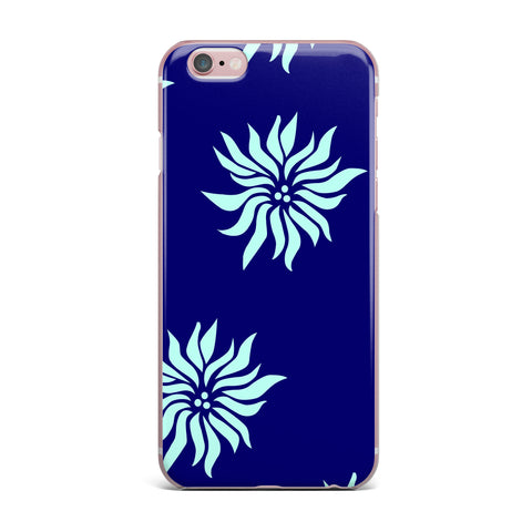 "NL Designs ""Snow Flowers"" Blue Aqua iPhone Case - KESS InHouse"
