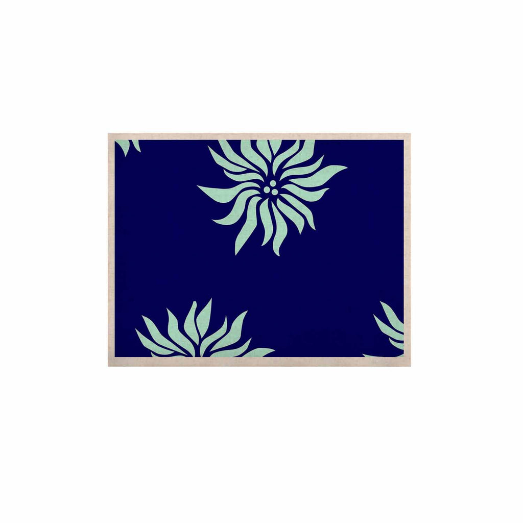 "NL Designs ""Snow Flowers"" Blue Aqua KESS Naturals Canvas (Frame not Included) - KESS InHouse  - 1"
