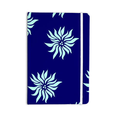 "NL Designs ""Snow Flowers"" Blue Aqua Everything Notebook - KESS InHouse  - 1"