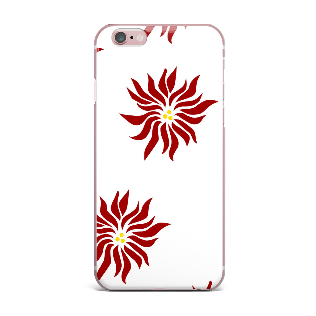 "NL Designs ""White Poinsettias"" Maroon Floral iPhone Case - KESS InHouse"