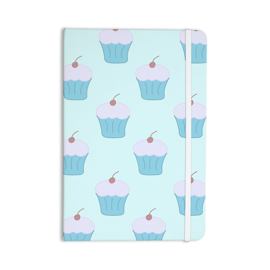 "NL Designs ""Blue Cupcakes"" Pastel Food Everything Notebook - KESS InHouse  - 1"