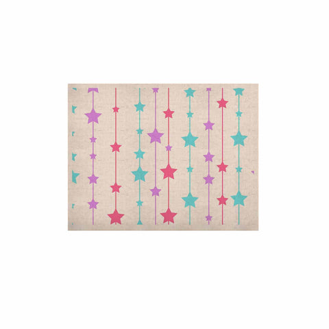 "NL Designs ""Pastel Stars"" Pastel Pattern KESS Naturals Canvas (Frame not Included) - KESS InHouse  - 1"