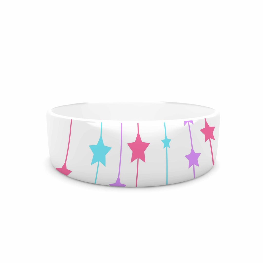 "NL Designs ""Pastel Stars"" Pastel Pattern Pet Bowl - KESS InHouse"