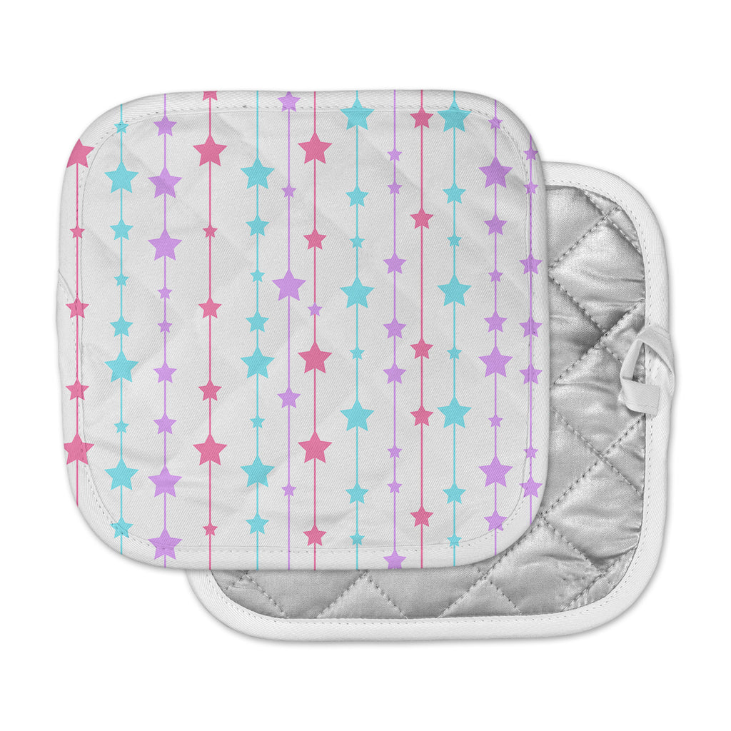 "NL Designs ""Pastel Stars"" Pastel Pattern Pot Holder"