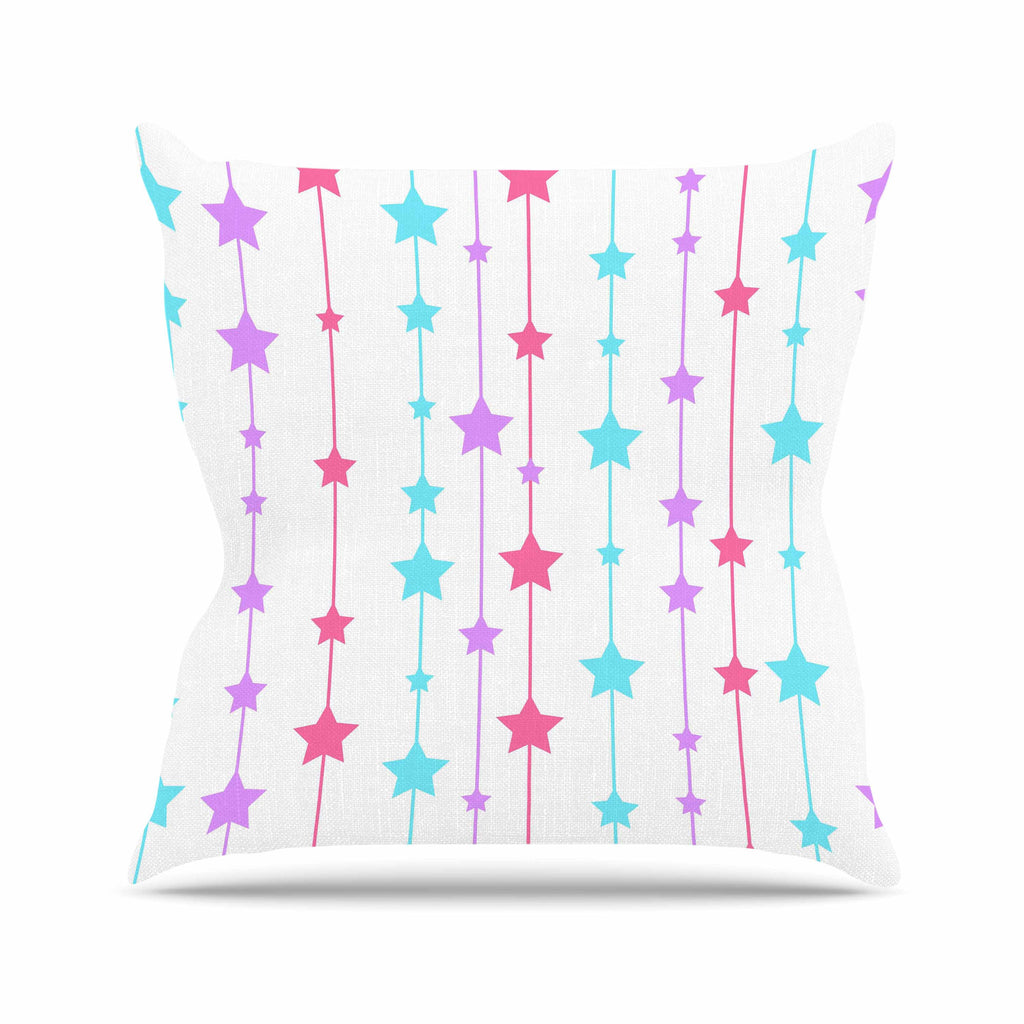 "NL Designs ""Pastel Stars"" Pastel Pattern Throw Pillow - KESS InHouse  - 1"