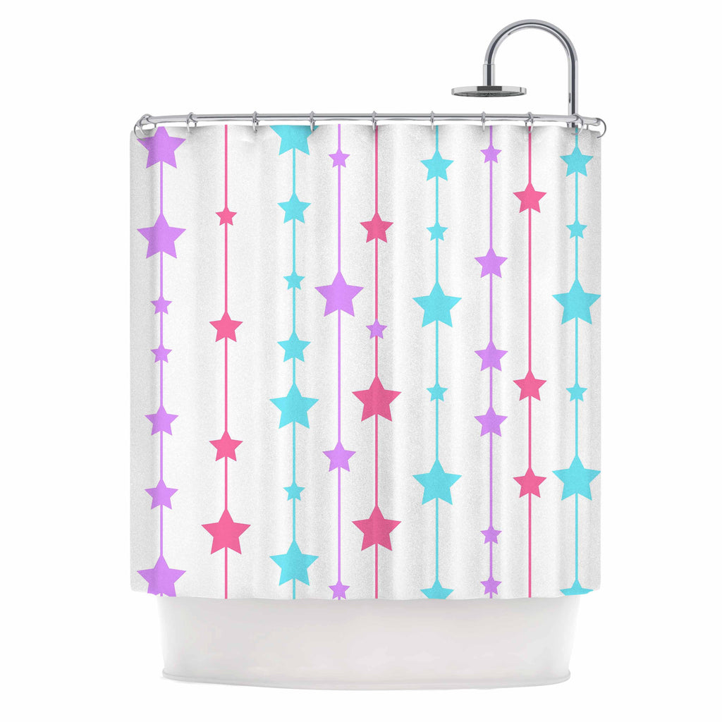 "NL Designs ""Pastel Stars"" Pastel Pattern Shower Curtain - KESS InHouse"