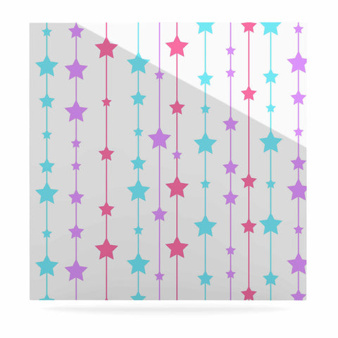 "NL Designs ""Pastel Stars"" Pastel Pattern Luxe Square Panel - KESS InHouse  - 1"