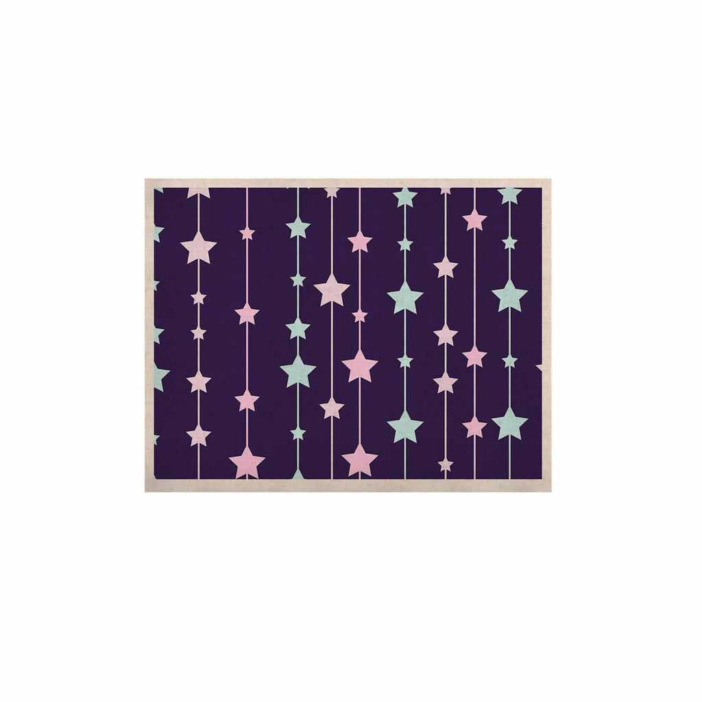 "NL Designs ""Twinkle Twinkle LIttle Star"" Purple Pastel KESS Naturals Canvas (Frame not Included) - KESS InHouse  - 1"