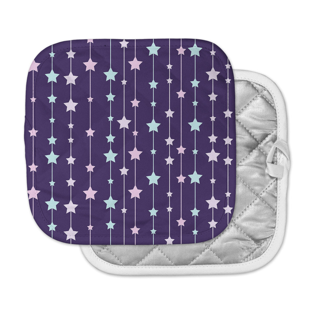 "NL Designs ""Twinkle Twinkle LIttle Star"" Purple Pastel Pot Holder"
