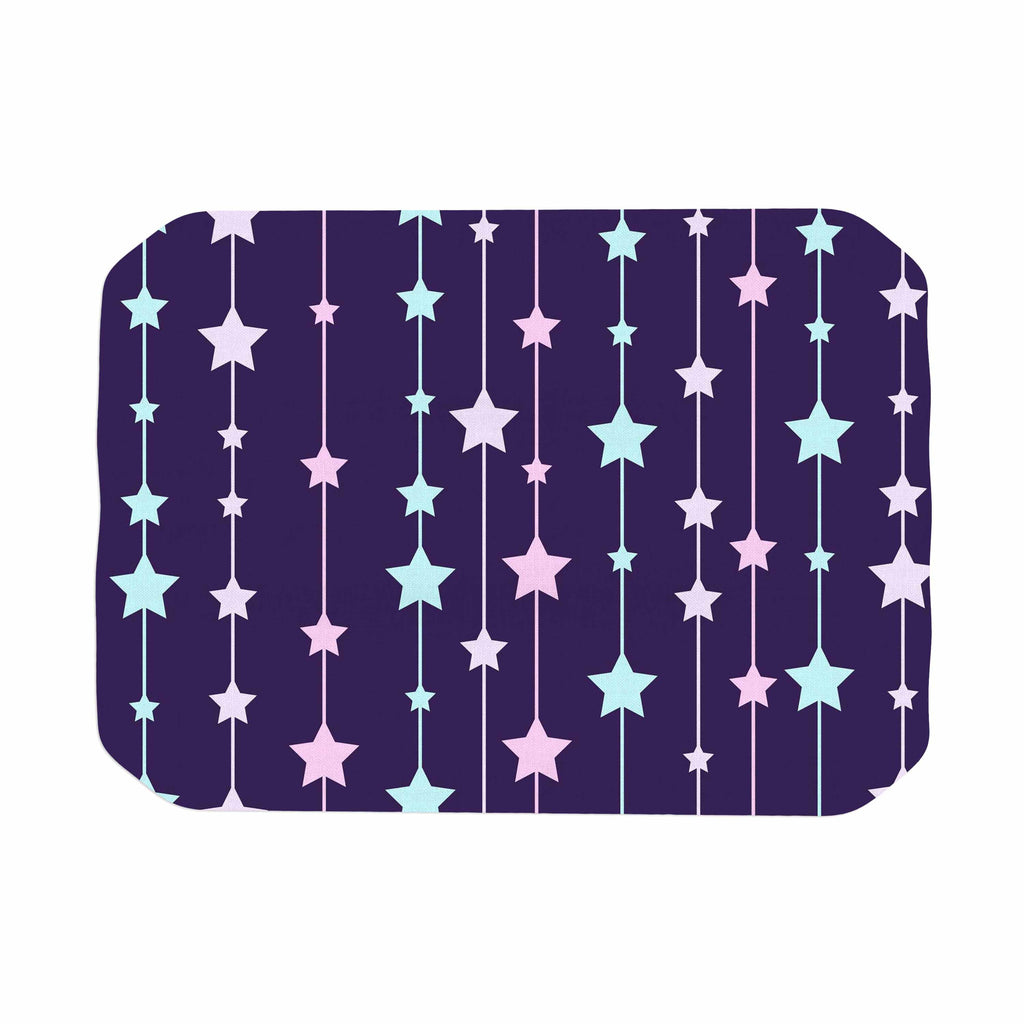"NL Designs ""Twinkle Twinkle LIttle Star"" Purple Pastel Place Mat - KESS InHouse"