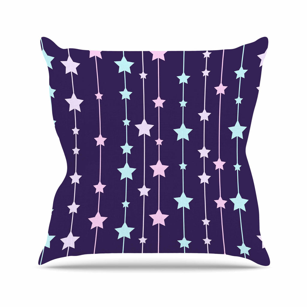 "NL Designs ""Twinkle Twinkle LIttle Star"" Purple Pastel Outdoor Throw Pillow - KESS InHouse  - 1"