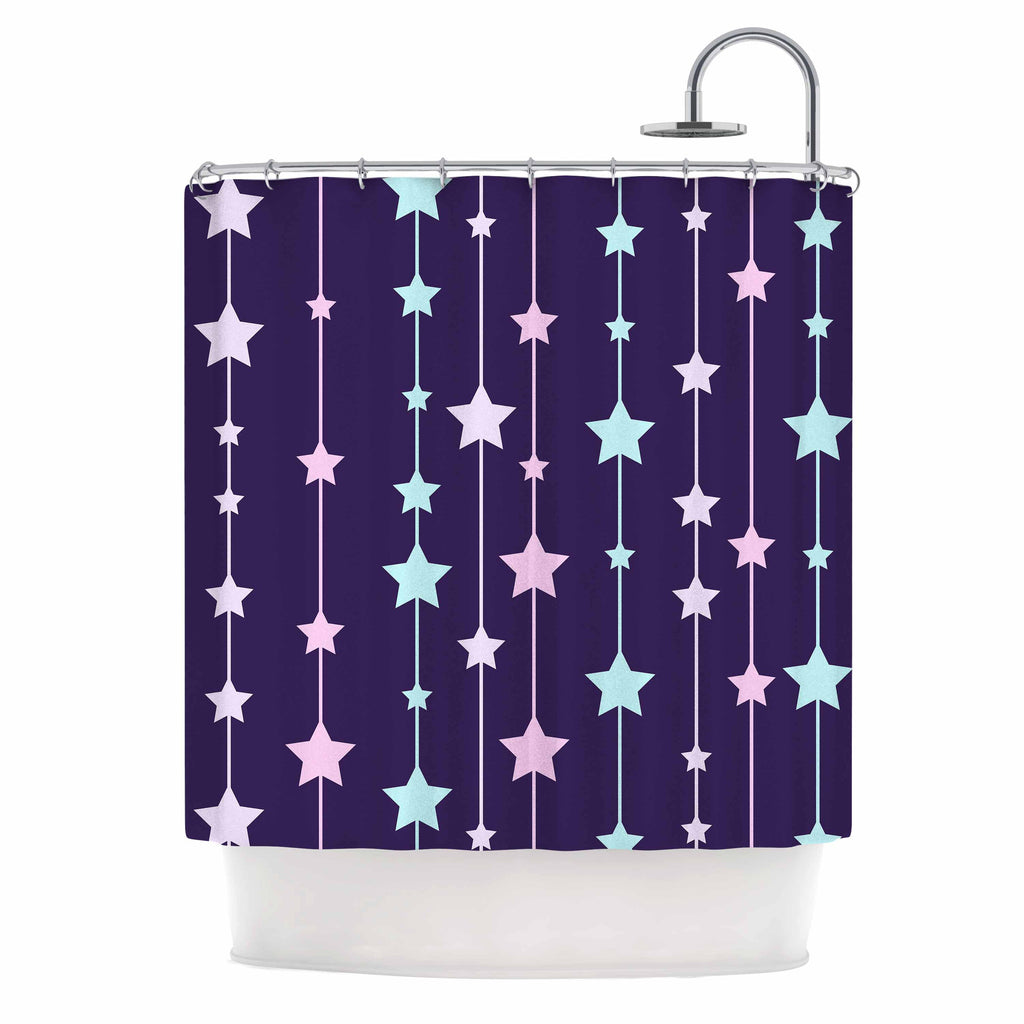 "NL Designs ""Twinkle Twinkle LIttle Star"" Purple Pastel Shower Curtain - KESS InHouse"