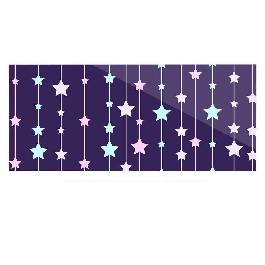 "NL Designs ""Twinkle Twinkle LIttle Star"" Purple Pastel Luxe Rectangle Panel - KESS InHouse  - 1"
