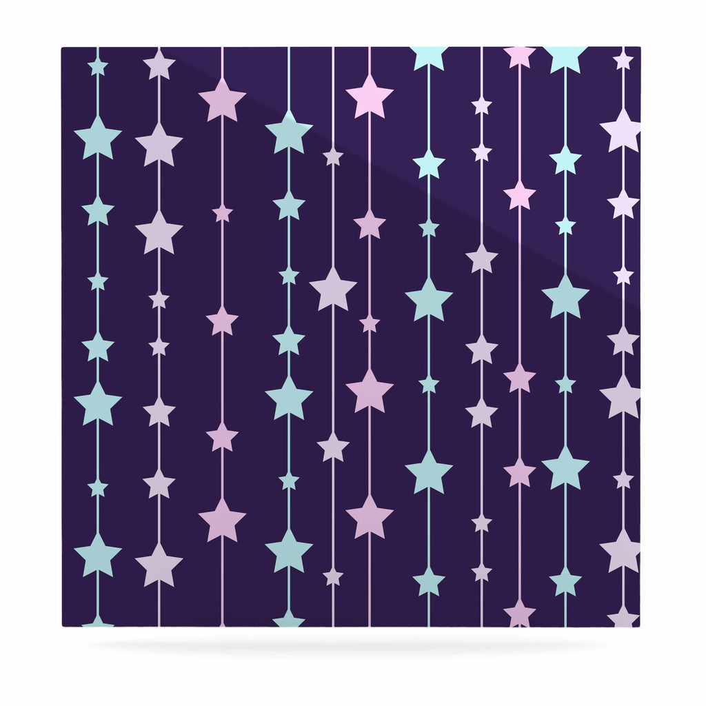 "NL Designs ""Twinkle Twinkle LIttle Star"" Purple Pastel Luxe Square Panel - KESS InHouse  - 1"