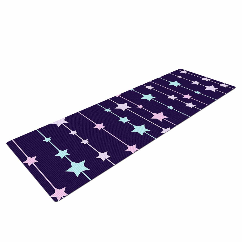"NL Designs ""Twinkle Twinkle LIttle Star"" Purple Pastel Yoga Mat - KESS InHouse  - 1"