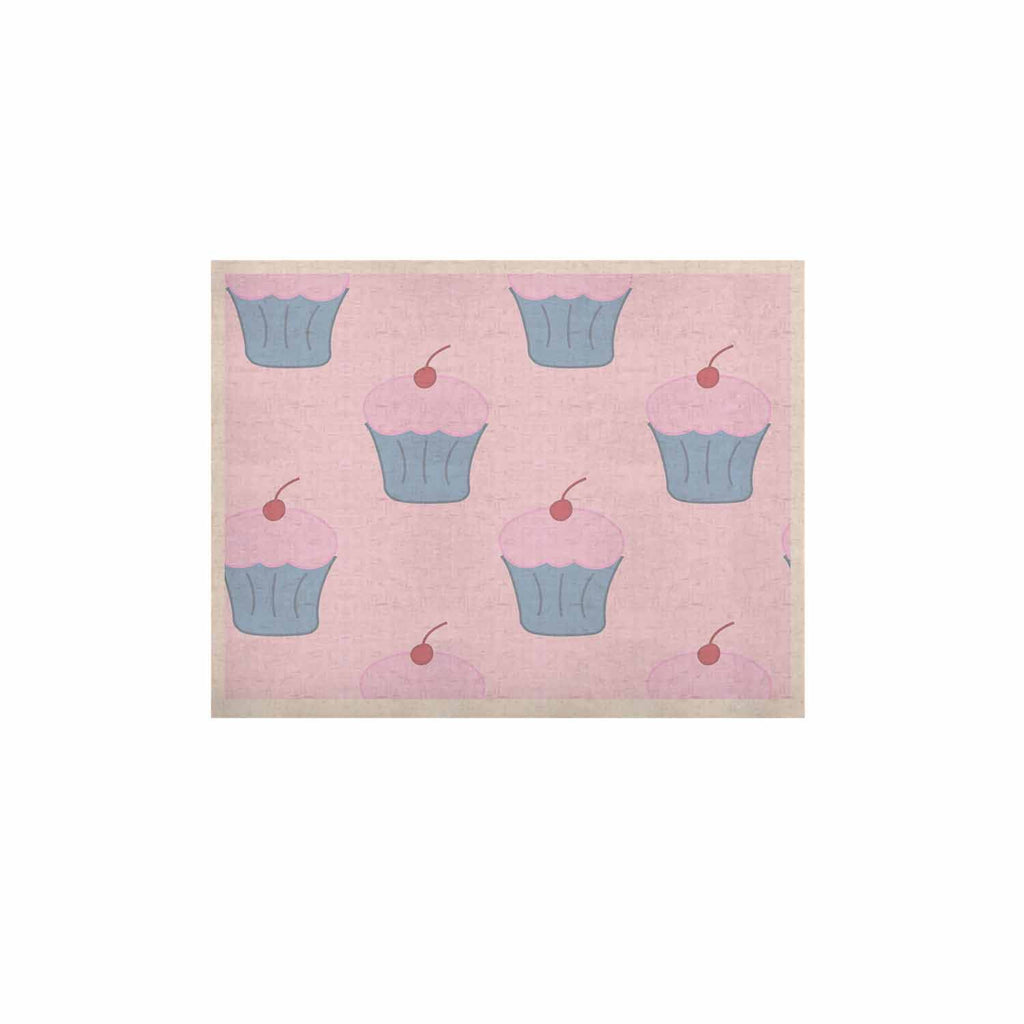 "NL Designs ""Pink Cupcakes"" Blue Blush KESS Naturals Canvas (Frame not Included) - KESS InHouse  - 1"